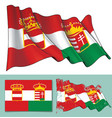 waving flag of austria-hungary vector image