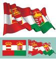 waving flag of austria vector image vector image