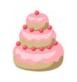 wedding cake icon sweet dessert vector image vector image