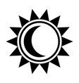 moon and sun icon vector image