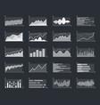 business financial market information graphs vector image