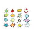 set colored comic bubbles vector image
