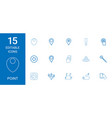 15 point icons vector image vector image