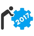 2017 Working Man Flat Icon vector image vector image