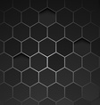 Abstract black background hexagon vector image vector image