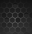 Abstract black background hexagon vector image vector image