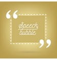 Abstract concept empty speech square quote vector image