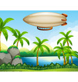 airship flating on air vector image