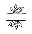 autumn leaves border frame vector image vector image