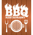 barbecue restaurant vector image vector image