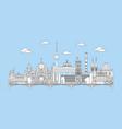 berlin skyline line art 6 vector image vector image
