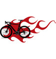bicycle with flame and fire vector image
