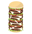 Big Cheese Burger on A White Background vector image