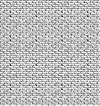 Black bricks-overlapping pattern vector image vector image