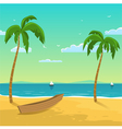 Boat on the beach vector image