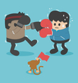 Boxing lose weight vector image vector image