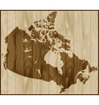 canada map on wood background vector image vector image