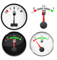 car dashboard gauges fuel level scales 3d vector image