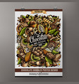 cartoon colorful hand drawn doodles chocolate vector image