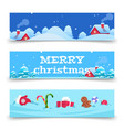 christmas banners x-mas background vector image vector image