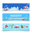 christmas banners x-mas background vector image