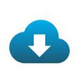 cloud computing data download logo icon vector image