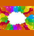 colorful party balloons background vector image vector image