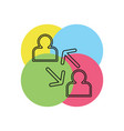 coworking concept line icon element vector image vector image