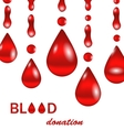 creative background for blood donation poster vector image