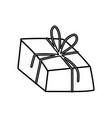 decorative gift box surprise ornament icon thick vector image vector image