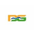DG company linked letter logo vector image vector image