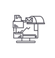document management linear icon concept document vector image vector image