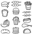 Doodle of food set collection stock vector image vector image