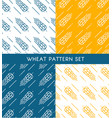 ears of wheat seamless patterns set vector image vector image