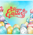 easter colorful eggs vector image vector image