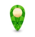 Eco friendly wooden icon for web design vector image vector image