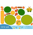 education paper game for children butterfly vector image vector image