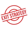 Exit Strategy rubber stamp vector image