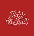 feliz navidad calligraphic line art typography vector image vector image