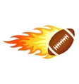 Flaming football vector image vector image