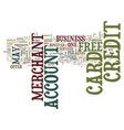free credit card merchant account text background vector image vector image