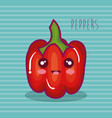 fresh peppers vegetable character vector image vector image