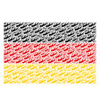 germany flag mosaic of firewood icons vector image vector image