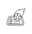 goal line icon concept goal linear vector image vector image
