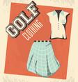 golf uniform femenine shirt and skirt vector image vector image