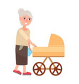 grandmother walking with newborn toddler isolated vector image