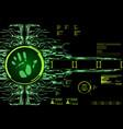 hud hi tech futuristic elements security code vector image