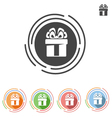 icon gift with bow vector image