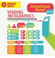 Infographic menu Kiosk Stand vector image vector image