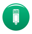 information usb icon green vector image vector image